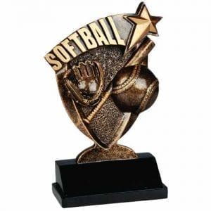 Broadcast Softball Trophies