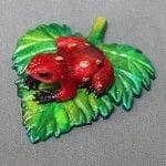 Bronze Frog Figurine Romeo