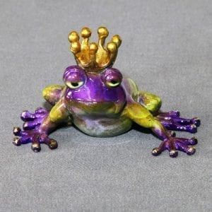 Bronze Frog with Crown