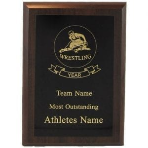 Cherry Finish Wrestling Plaque