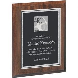 Economy Engraved Cherry Plaque
