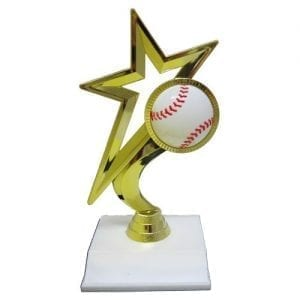Gold Star Baseball Trophies