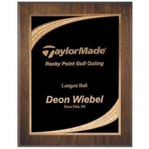 Golden Ray Engraved Plaque Award