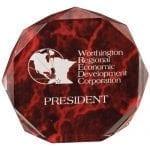 Octagon Acrylic Marble Award
