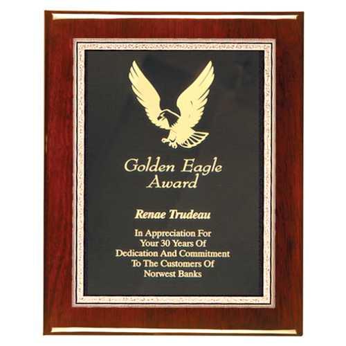 Rosewood Plaque Award High Gloss