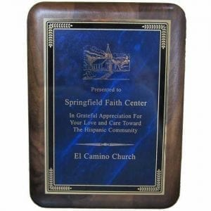 Rounded Corner Plaque Award