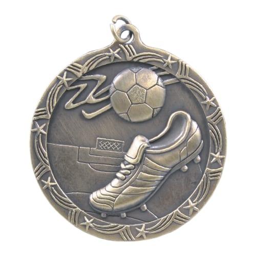 Shooting Star Soccer Medal