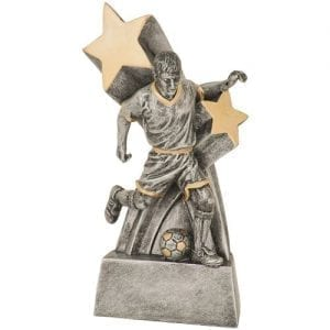 Super Star Male Resin Soccer Trophies