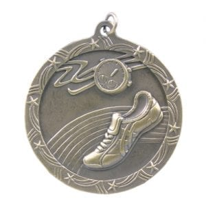Track Medal with Shooting Stars