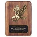 Walnut Plaque with Metal Eagle Casting