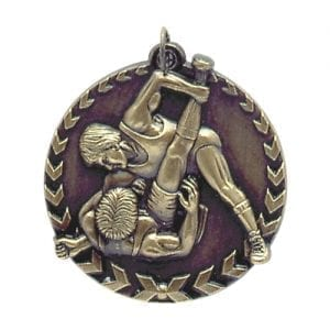 Wreath Wrestling Medal