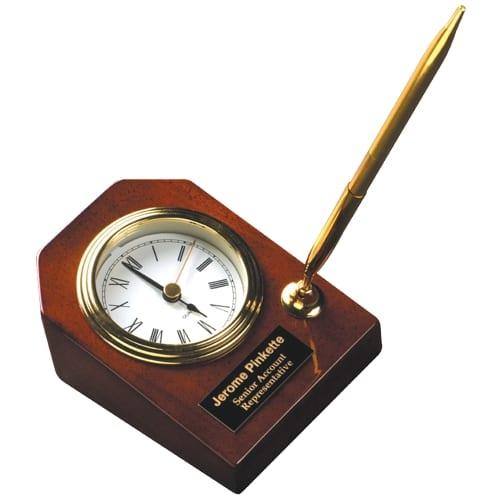 Award Clock with Pen