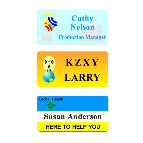 Full Color Magnetic Name Tags