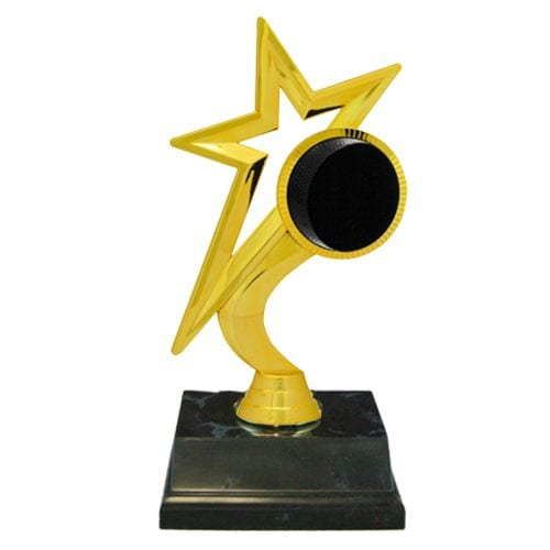SPECIAL AWARD economy black star trophy free engraving any sport trophies