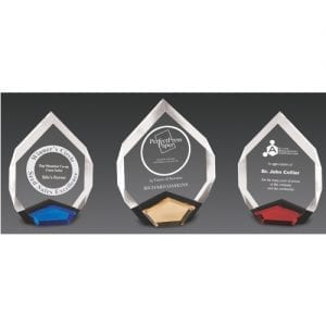Acrylic Gem Trophy colors