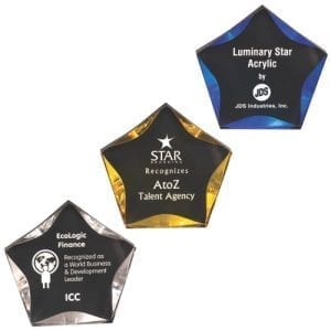 Acrylic Luminary Star Trophy colors