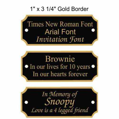 Black Plates with Gold Border