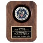 Walnut Plaque with Air Force Seal