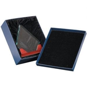 Glass and rosewood award in box