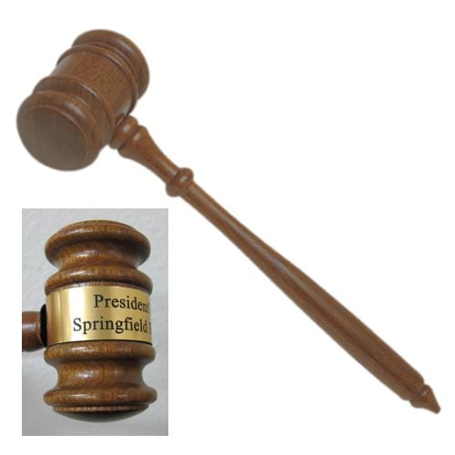 Walnut Gavel 10""