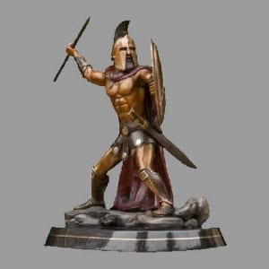 Bronze Warrior Sculpture