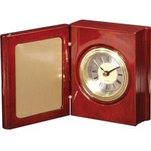 Engraved Book Clock