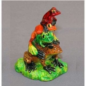 Stack of Frogs Figurine