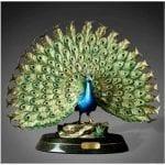 Bronze Art Peacock