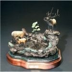 Bronze Deer Family Figurine