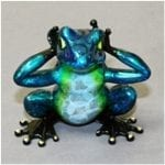 Bronze Frog Hear No Evil