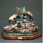 Bronze Sculpture Bull Elk