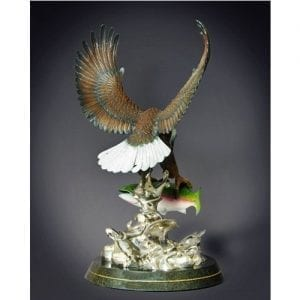 Eagle Wildlife Sculpture, back view