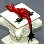 Frog Figurine on Ledge