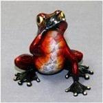 Frog Sculpture Speak No Evil