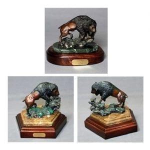 Bronze Buffalo Wildlife Art, more views