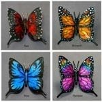 Red, Monarch, blue, rainbow