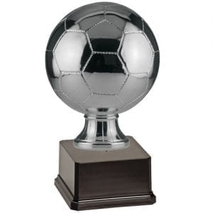 Shown with silver soccer ball