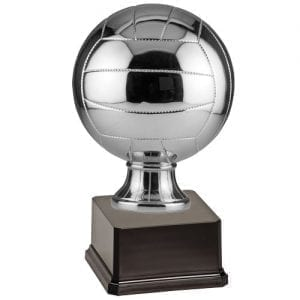 Large Volleyball Trophy, silver