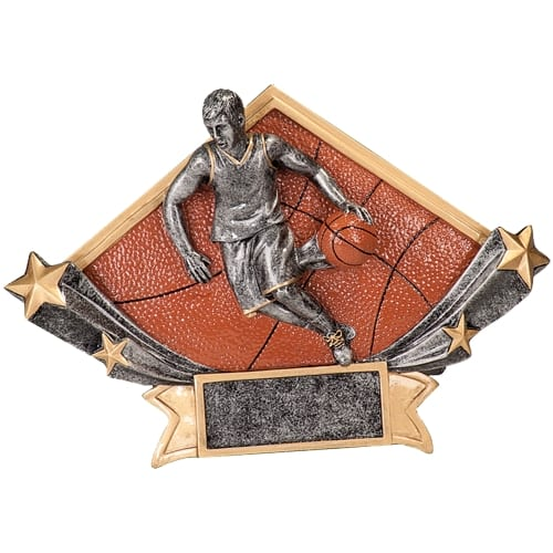 Resin Basketball Plaque - Male