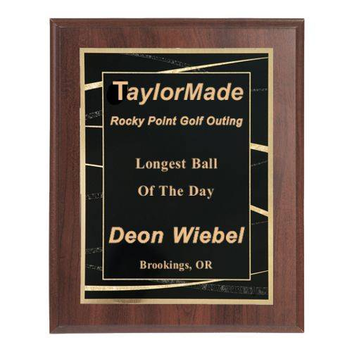Engraved Plaque with Wide Border