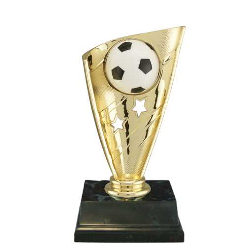 Soccer Trophy with Banner