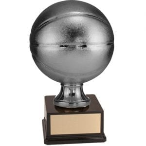 Basketball Trophy in silver