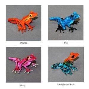 Delilah Bronze Frog Sculpture colors
