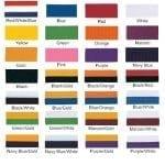Neck ribbon colors, part 1