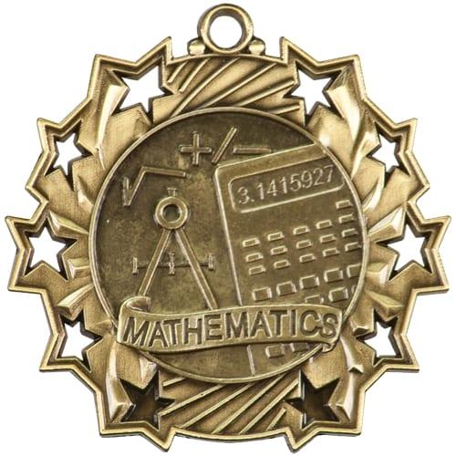 Ten Star Math Medals