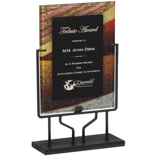 Acrylic Plaque with Iron Stand