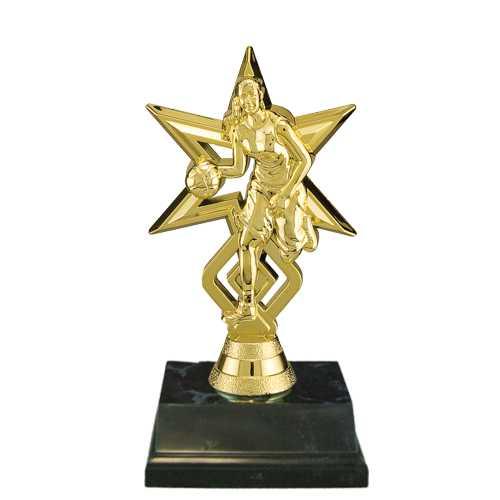 Girls Basketball Star Trophies