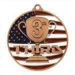 Patriotic 3rd Place Medals