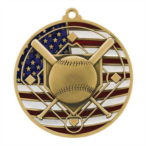 Patriotic Baseball Medals