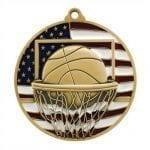 Patriotic Basketball Medals